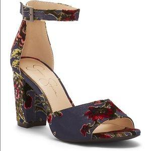 Jessica Simpson Sherron Floral Sandals velvet